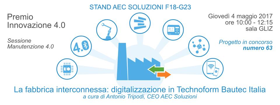 AEC Soluzioni partecipa al Premio Innovazione 4.0 ed. 2017